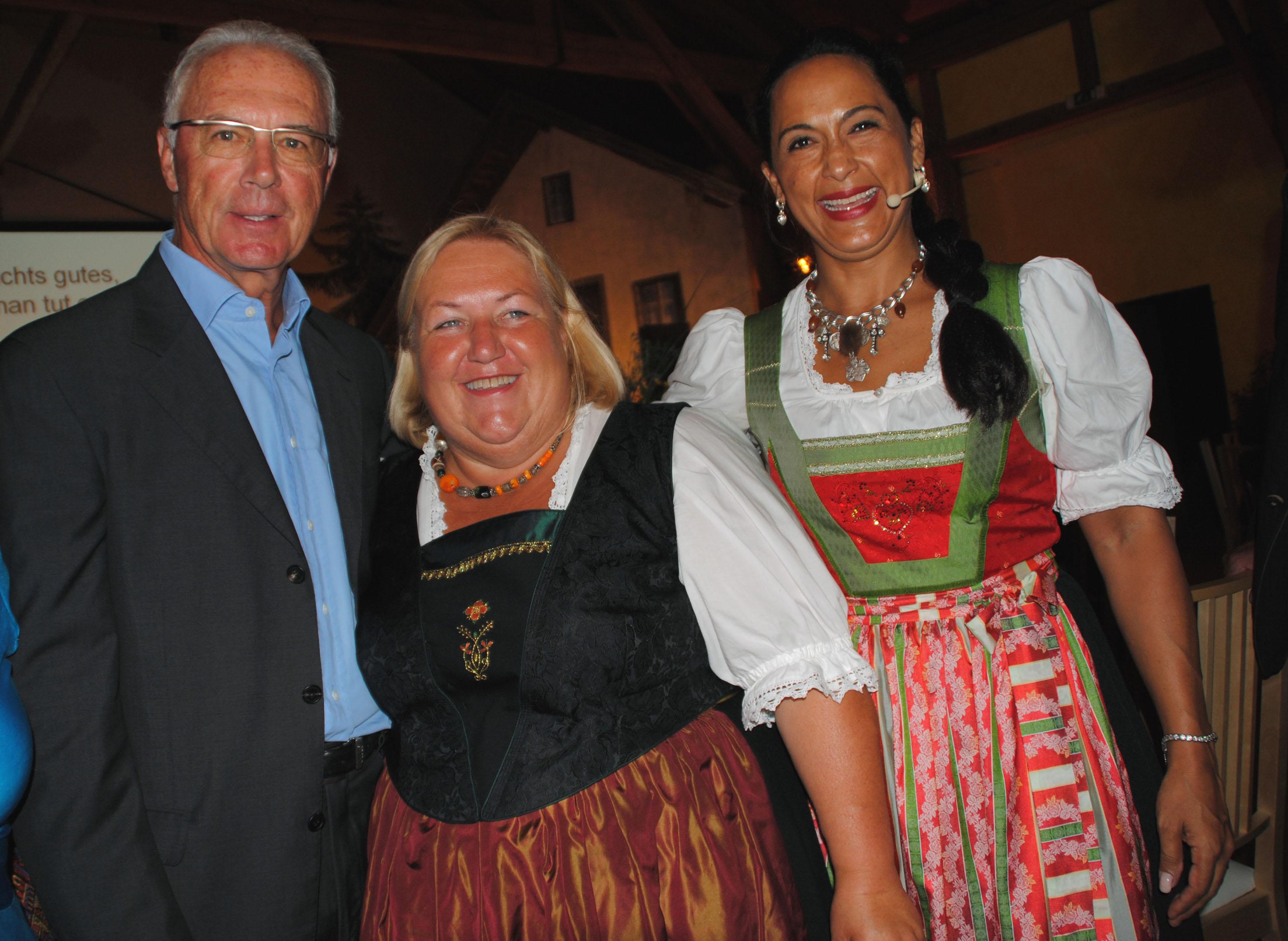 Fini  Schmid und Franz Beckenbauer
